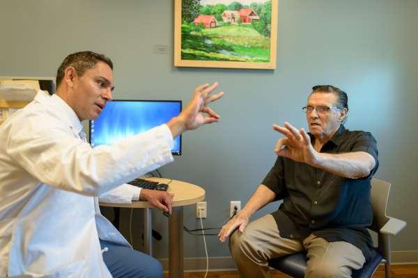 Parkinson's patient receiving treatment